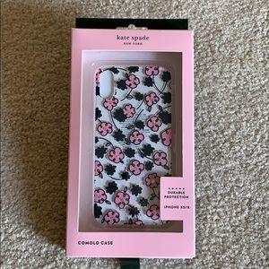 Kate Spade jeweled floradoodle iPhone case